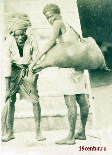 Сомалийцы в Адене. 19 век.
