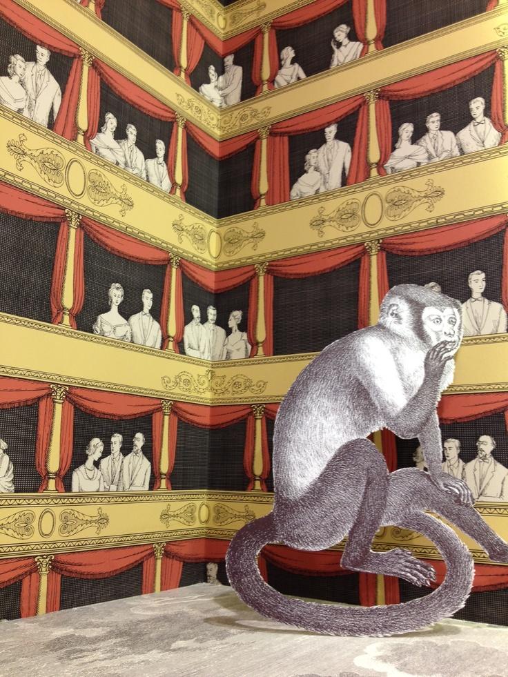 fornasetti ii teatro wallpaper by cole son cole son