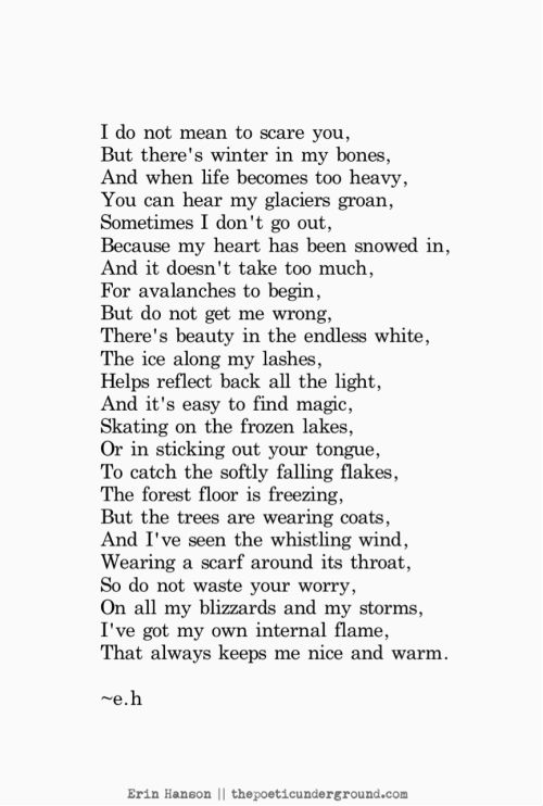 Winter Within #poem #poetry thepoeticunderground.com