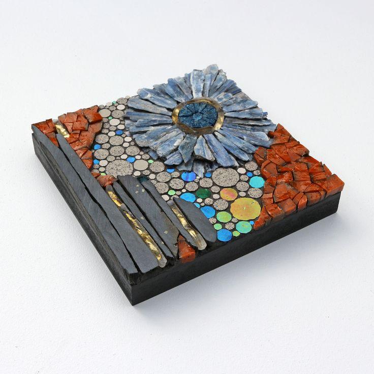 Line Mortensen creates one-off mosaic work in a mix of glass tiles, Italian Smalti, French ceramic tiles, semiprecious stones, slate and Scottish sea glass. http://www.craftscotland.org/profile/2215/designed-with-pleasure/