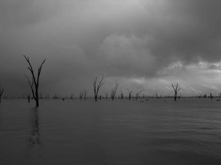 Brooding clouds, Lake Mulwala, VIC