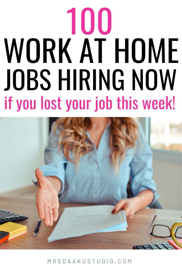 50 Immediate Hire Work From Home Jobs Near Me 2020 In 2020