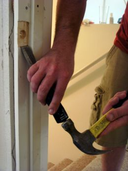 how to fix a door frame comes in handy when you have an angry brother