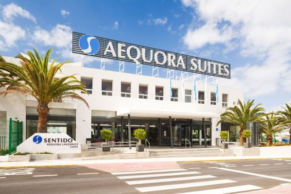 "Welcome to Aequora Lanzarote Suites, Puerto del Carmen Hotel. The hotel AEQUORA Lanzarote Suites 4 * is a newly built complex located in Puerto del Carmen, which is one of the main tourist areas of the island of Lanzarote. The hotel is located 200m from the beach ""Los Pocillos"" and"