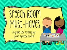 Home Sweet Speech Room : Speech Room Must-Haves: A Guide for Setting Up Your Speech Room