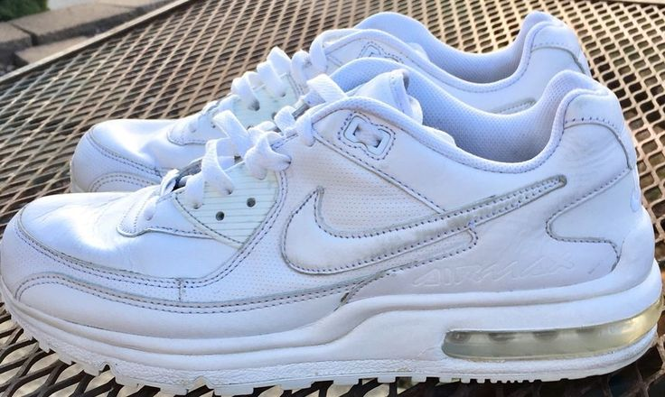 Mens Nike Air Max Wright Running Shoes - All White -#317551- SZ-US 10 Euo 44    eBay