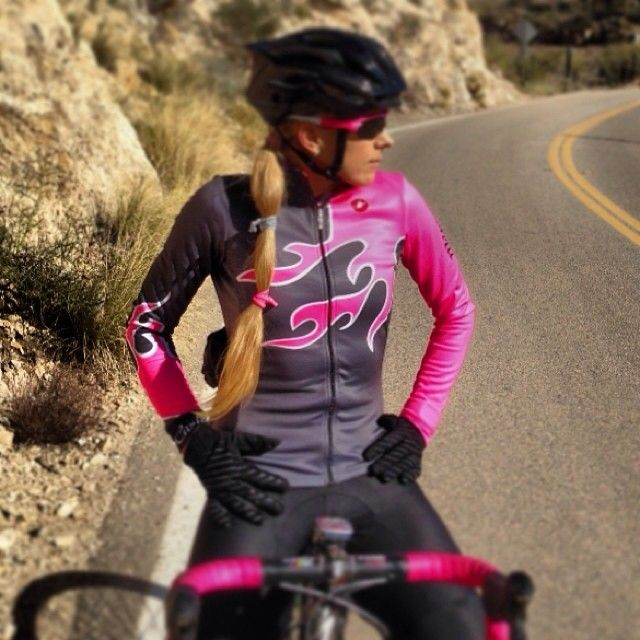 castellicycling:  The flames will keep you warm via @annefrogie