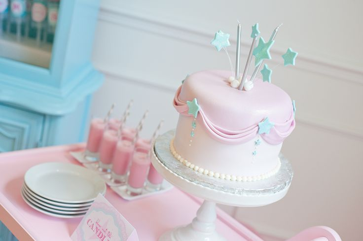 Feminine, sweet party cake: Birthday Parties, Birthdays, Party Ideas, Birthday Party, Birthday Cakes, Pink Cake, Baby Shower