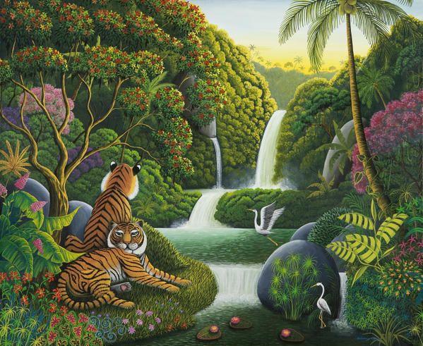 La tigresse, Catherine Musnier. Art Naïf