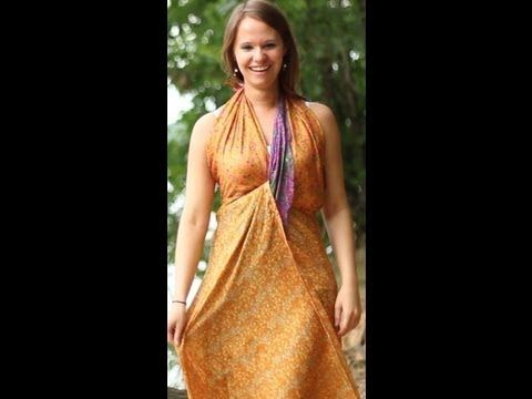 How To Make Dress Styles with a Sari Wrap Skirt    I've been looking for this for years! Lots of ways to wear a recycled sari layered wrap skirt