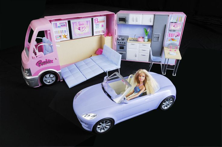 Mattel Barbie Campervan Convertible Sports Car And Doll Fashion Doll Villa Ideas Pinterest