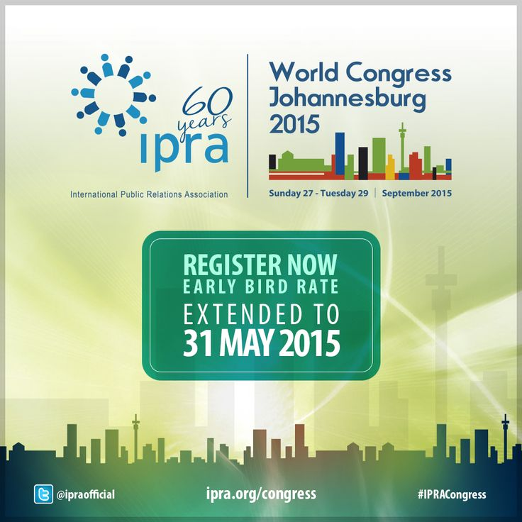 Take advantage of weekend to learn more about the IPRA World ...