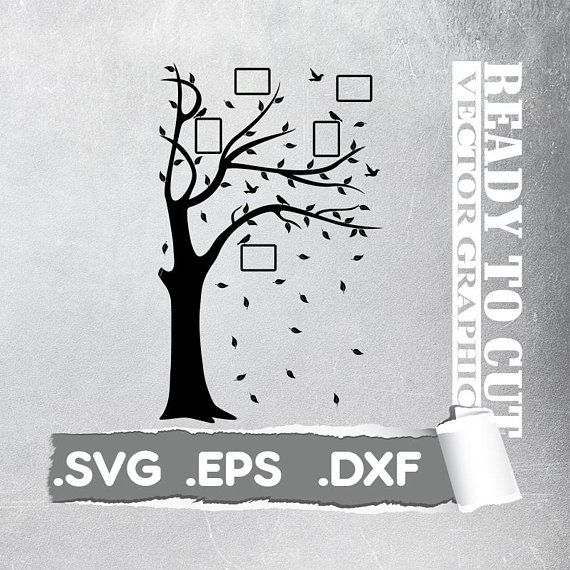 Cut Ready -  Tree svg  - Cut Ready Vector File - Svg, Eps, Dxf