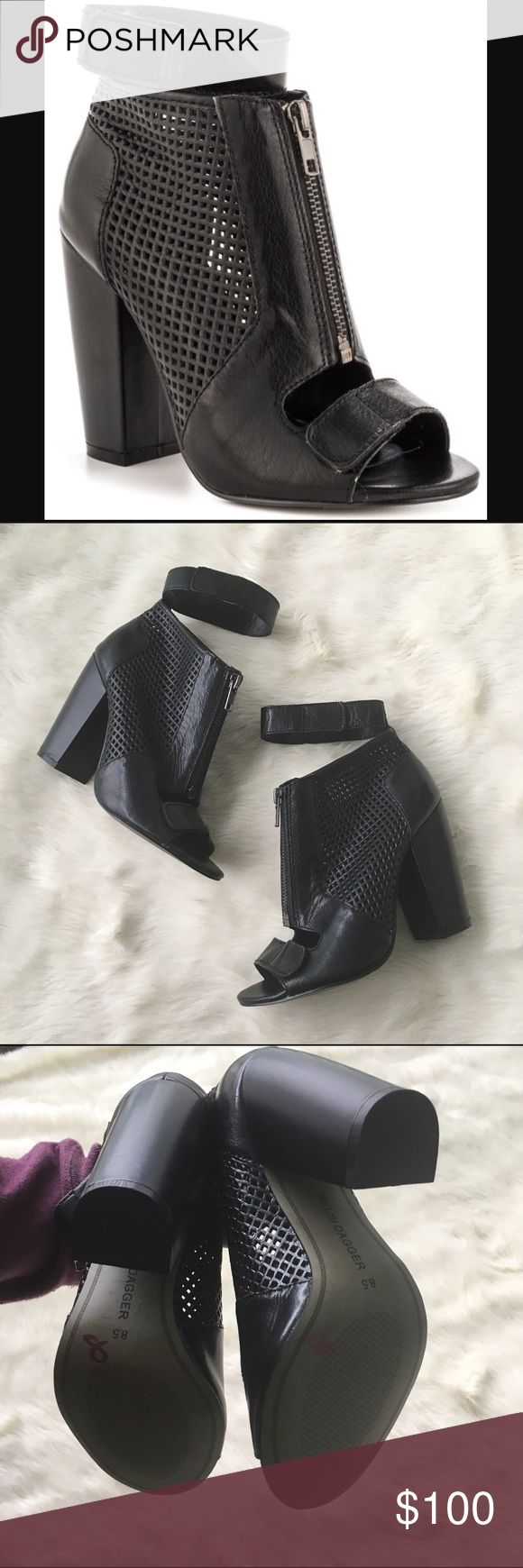 "Kelsi Dagger Betta Peep toe bootie Sz 8.5 Betta peep toe bootie. Excellent like new condition. If you are between 8-8.5 I believe these will work. I'm an 8 and considering keeping😩 heel approx 4"" Kelsi Dagger Shoes Ankle Boots & Booties"