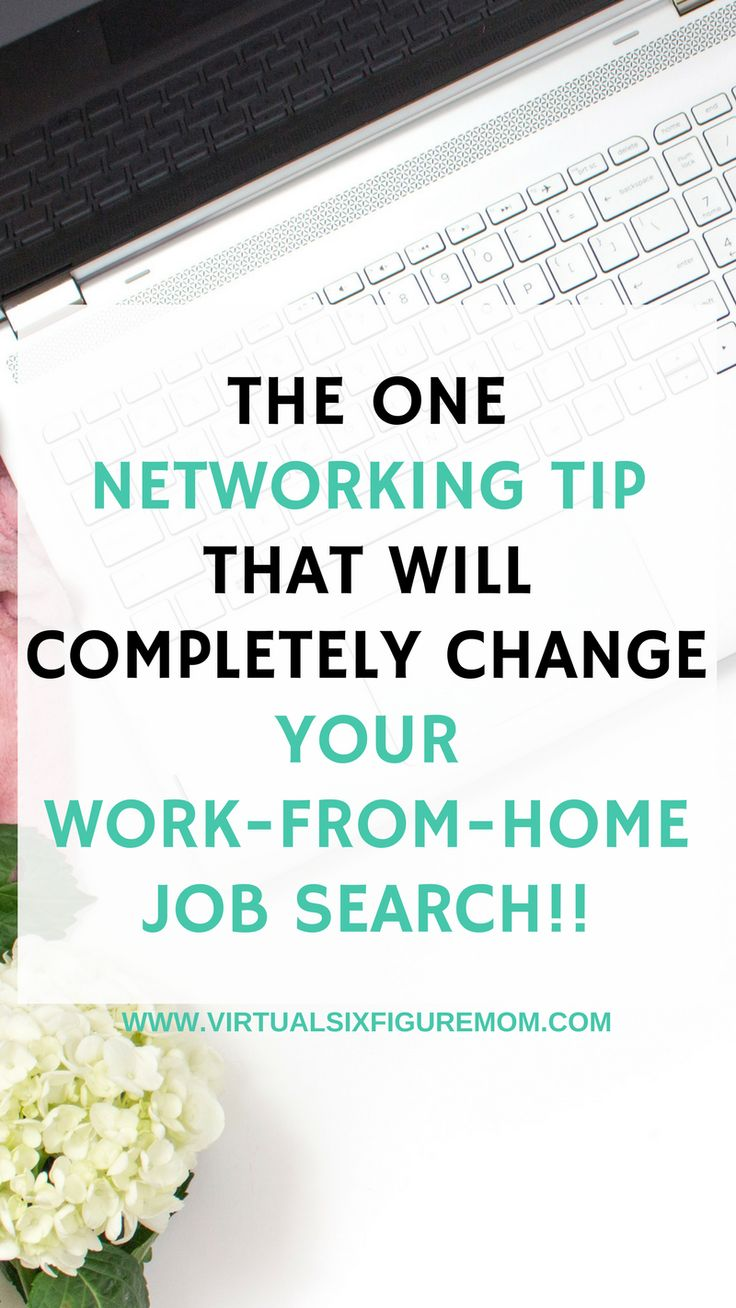 The secret is out! Want to know the ONE networking tip that will COMPLETELY change our work-from-home job search?