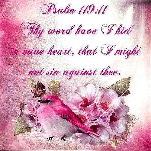 Psalm 119:11-15 (KJV) Thy word have I hid in mine heart that I might not sin against thee.,.,.,.,::,, ecard