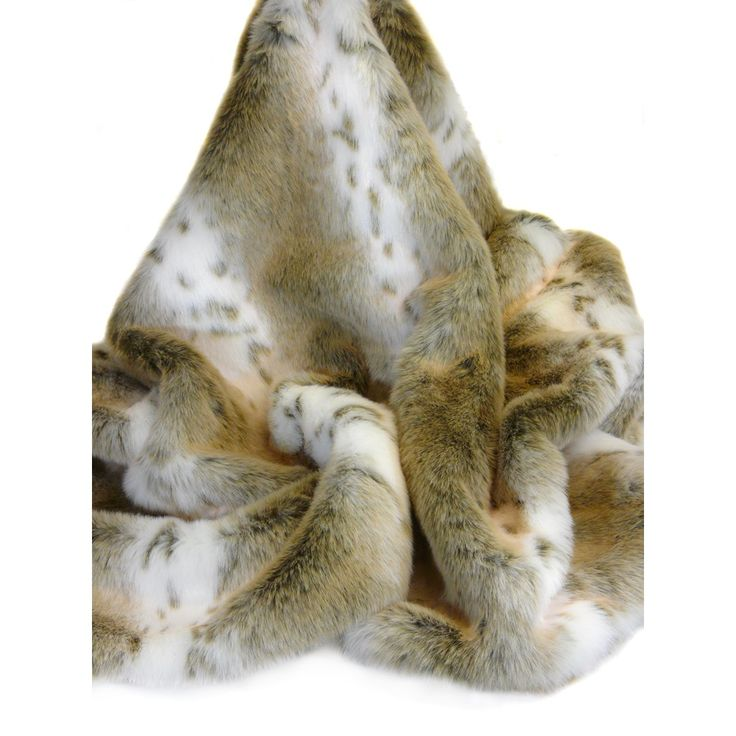 Snuggle under this exquisite Lynx faux fur throwmade by British faux fur design house, Helen Moore. These throws have a silky soft touch and is lined in a sumptuous faux suede. Drape it over your bed or over the sofa (perfect size for a double bed).   It not only looks amazing but add a glass of wine and a good book and it completes the idyllic Winter picture!        Made in Britain.       Lined in a toning faux suede.       This throw measures 140cm x 180cm.      Please note that all…