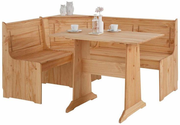 Home affaire Eckbankgruppe »Sascha« mit Tisch und Bank