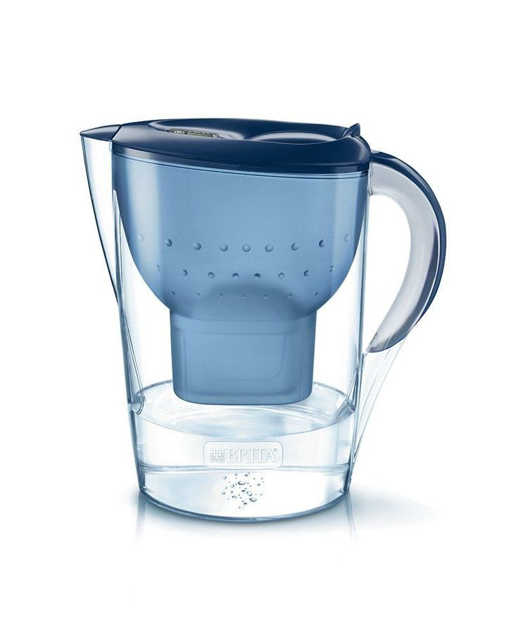 Water Filter Jug Solid Blue Colored Finish Extra Large Sized Dishwasher Safe New