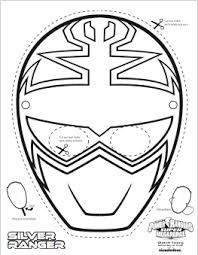 This is a picture of Punchy Power Ranger Mask Printable