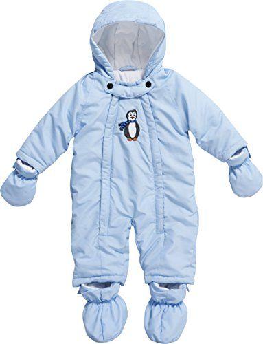 Playshoes Unisex - Baby Schneeanzug, Schneeoverall Pinguin, Gr. 62, Blau