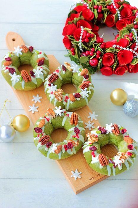 """クリスマスリースパン♪ - はじめてでも簡単♪あいりおーの""""毎日つくりたくなる""""おうちパン レシピブログ -料理ブログのレシピ満載!"""