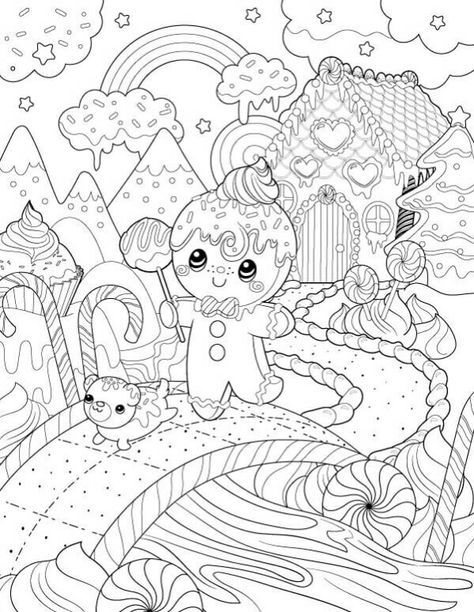 45+ Trendy Ideas For Drawing Christmas Pictures Coloring ...