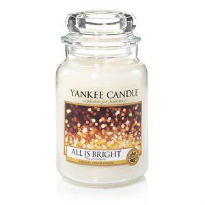 Månadens doft för december 2017 är All is Bright. En blandning av bubblande citrus och varm mysk. #YankeeCandle #Allis Bright #feststämning #Citrus