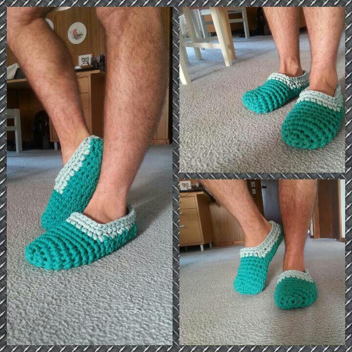 Patucos zapatillas de andar por casa trapillo DIY