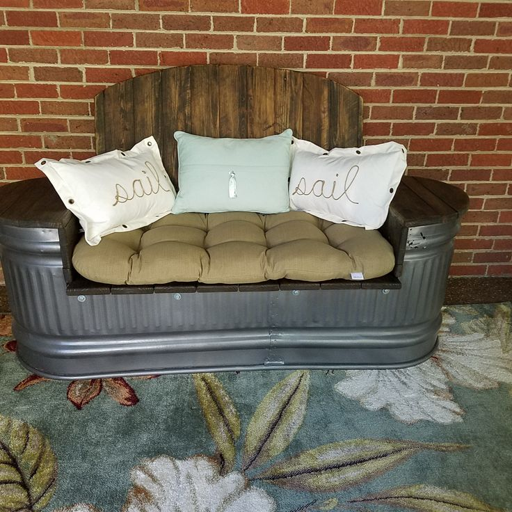 Final Water Trough to Couch Product for our patio. Absolutely love how it came out!!