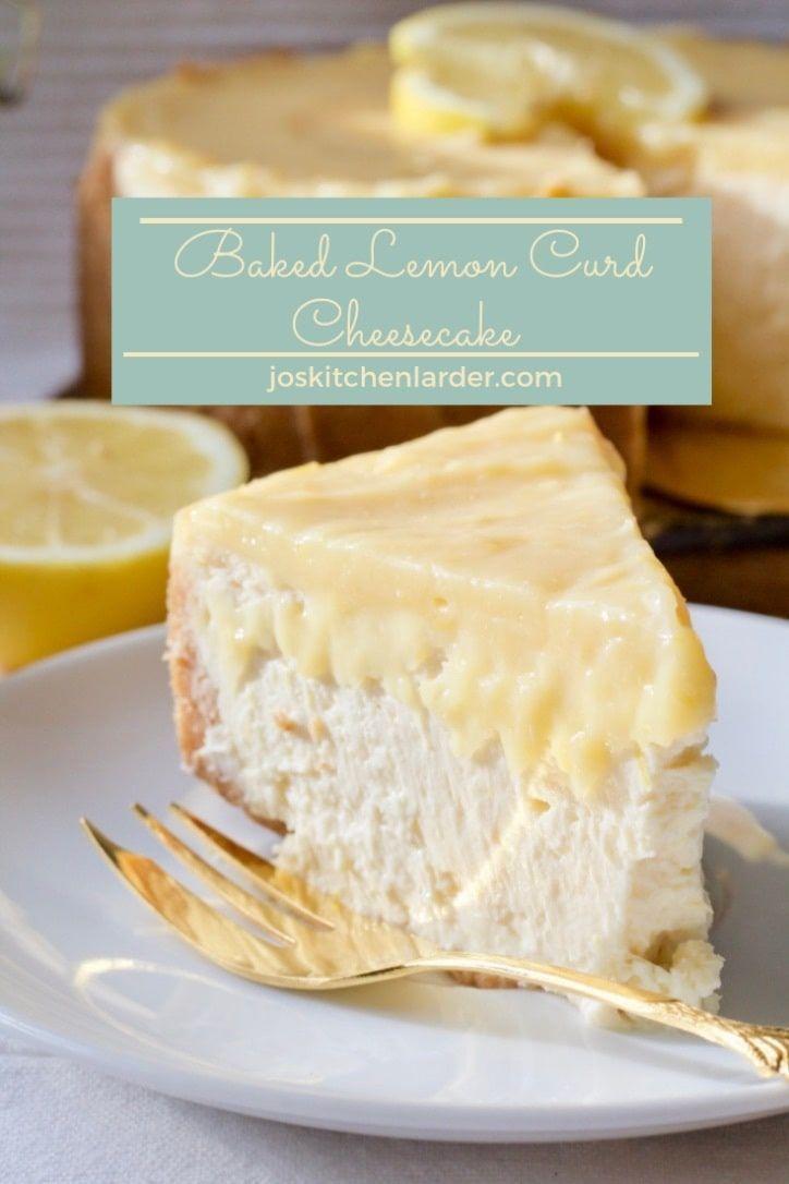 Cheesecake Lemoncheesecake Lemoncurd Bakedcheesecake Condensedmilk Via Joskitchenlarder Fun Cheesecake Recipes No Bake Lemon Cheesecake Milk Recipes