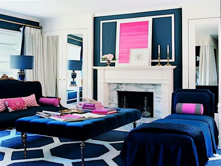 Blue And Pink Room.