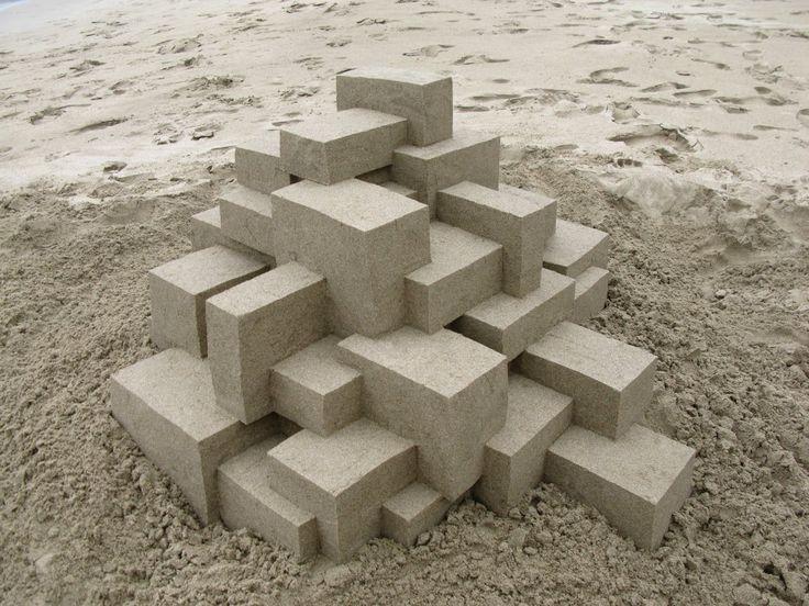 Really cool. Mesmerizing Modernist Sandcastles By Calvin Seibert
