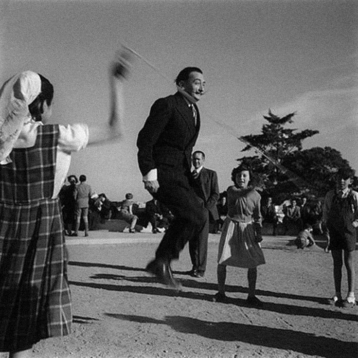 c. 1960s: Dali skipping rope