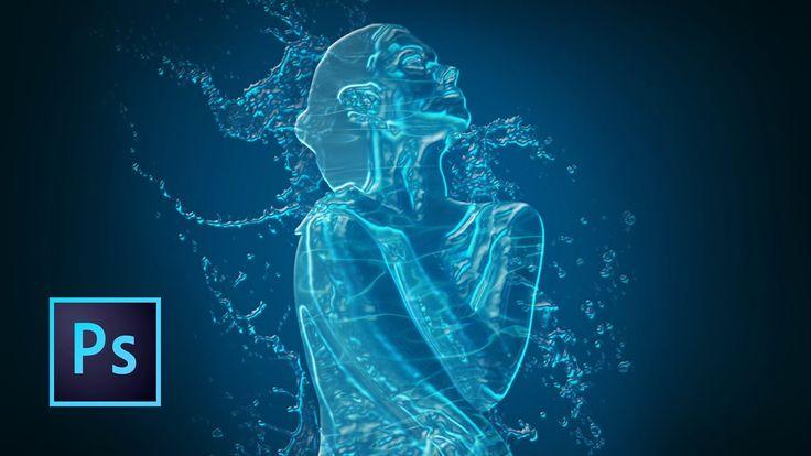 Tutorial Photoshop | Efecto agua | Chica de agua