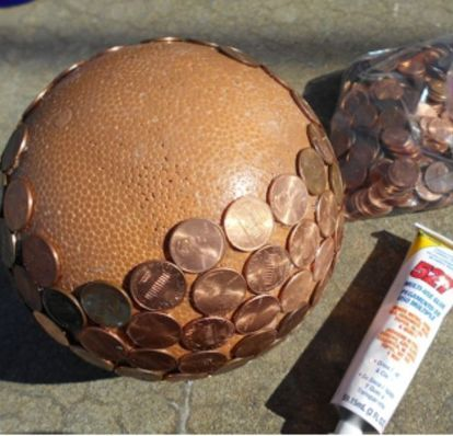 diy penny balls for your garden, crafts, gardening, how to, pest control