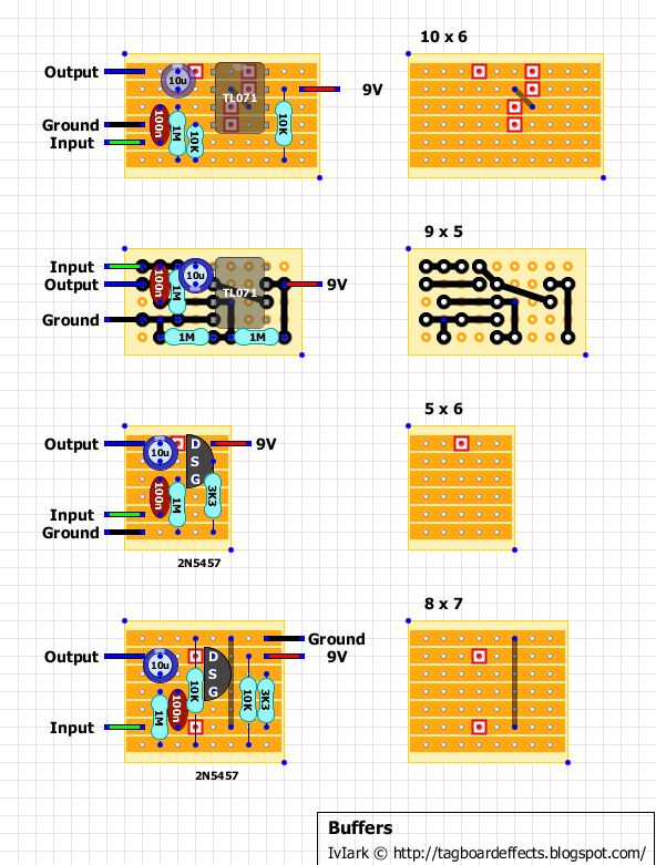 collection of vero stripboard tagboard layouts for 100s of popular guitar effects with over. Black Bedroom Furniture Sets. Home Design Ideas