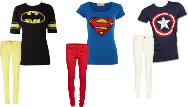 super hero outfits!!  #batman #superman #captainamerica