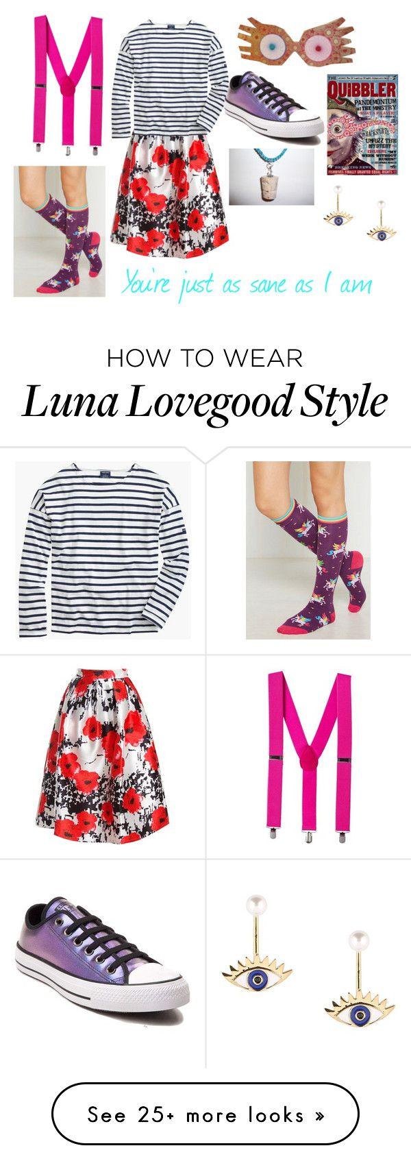 """Luna Lovegood"" by crybabyquinn on Polyvore featuring Luna, Sans Souci, Saint James and Converse"