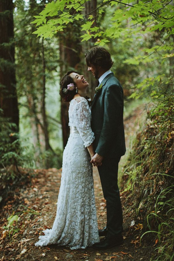 A Vintage Edwardian Crochet Dress For A Californian Wedding in the Woods | Love My Dress® UK Wedding Blog