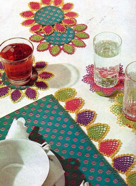 Patrón #1005: Set de Mesa a Crochet   CTejidas [Crochet y Dos Agujas]