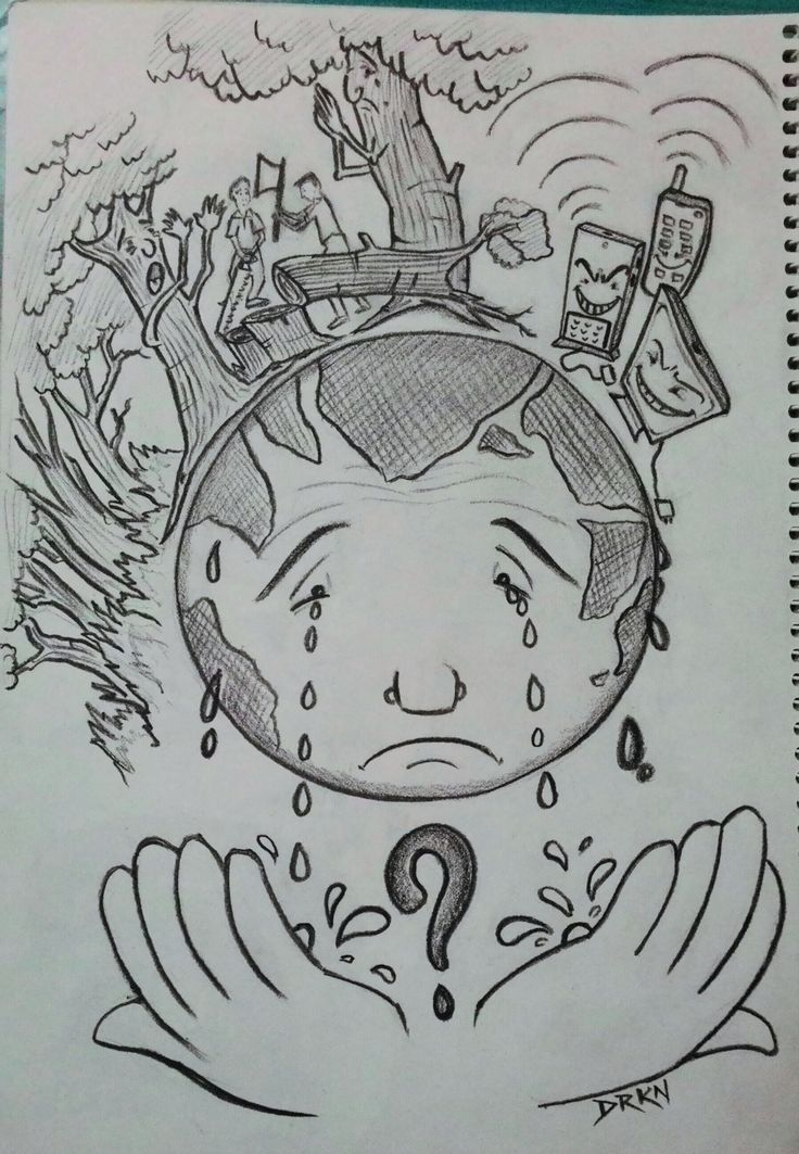 Deforestation Pencil Drawing | www.pixshark.com - Images ...