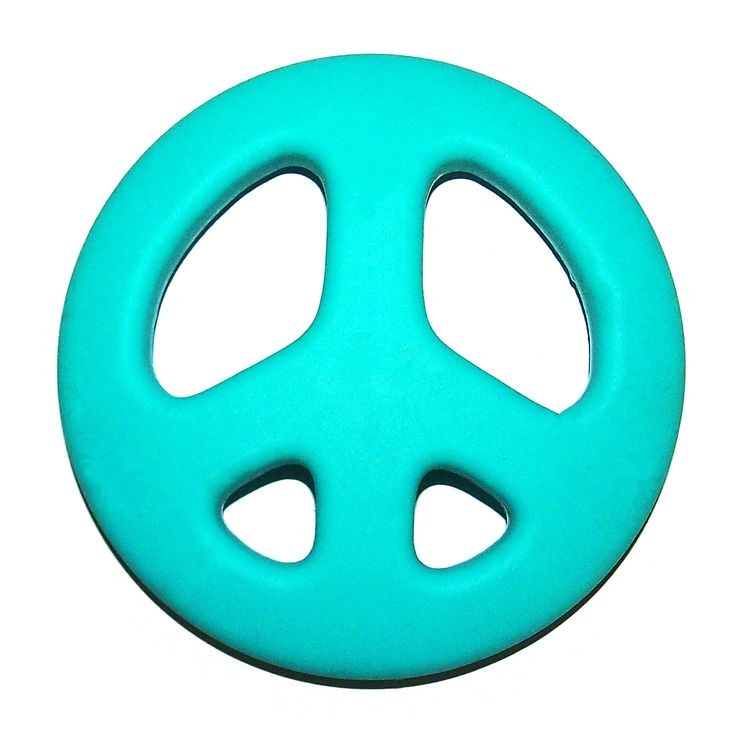 """Amazon.com : """"The Art of CureTM Organic Teething Silicone Purple """"""""Peace Sign"""""""" Baby BPA Free : Baby"""