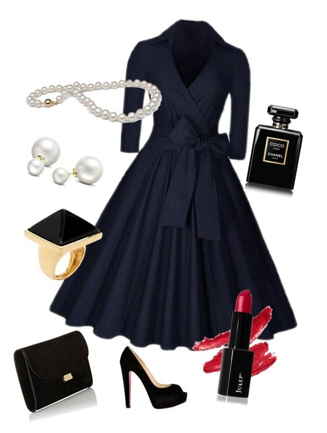 """""""pure elegance"""" by syddeon on Polyvore featuring Christian Louboutin, Allurez, Mansur Gavriel, Kenneth Jay Lane and Chanel"""