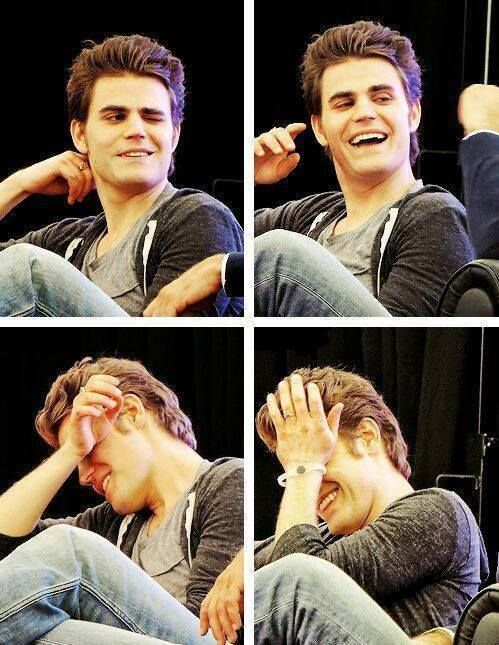 Paul Wesley: he's so cute like all the time. LOOK AT HIM!!!