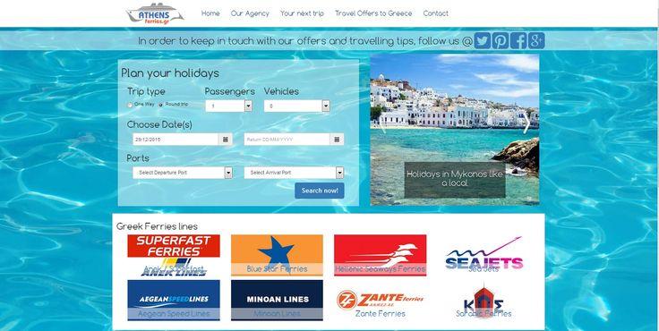 Ολοκληρώθηκε ο επανασχεδιασμός άλλης μιας ιστοσελίδας μας, www.athens-ferries.gr , αξιοποιώντας το responsive framework bootstrap και το περιβάλλον διαχείρισης Joomla!.Δείτε δείγματα εργασιών μας εδώ http://goo.gl/bwYV0y.