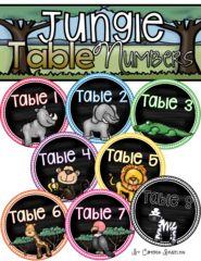 Jungle Safari Theme Classroom Decoration Bundle (Behavior Chart, Name Plates, Signs) from ccbrazel on TeachersNotebook.com