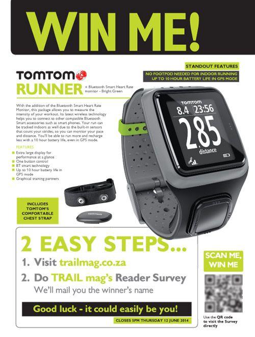 Win a TomTom Runner in TRAIL magazine's 2014 Reader Survey