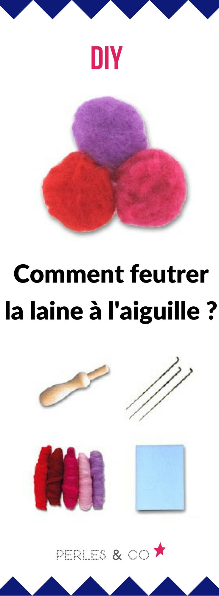 Comment feutrer la laine à l'aiguille ? Il existe différentes techniques pour feutrer la laine : à l'aiguille, au savon, ou à la machine à laver. Voici un exemple de réalisation de feutrage à l'aiguille que l'on appelle aiguilletage. C'est une technique moins compliquée qu'il n'y paraît, qui consiste à entremêler la laine pour la rendre plus compacte. #diy #laine #feutrer #aiguille #technique #tuto #astuce #conseil #comment