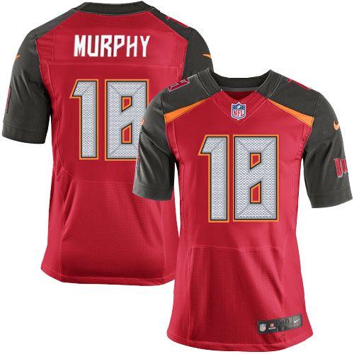 Men's Tampa Bay Buccaneers #18 Louis Murphy Red Team Color NFL Nike Elite Jersey